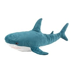 BLÅHAJ soft toy, shark