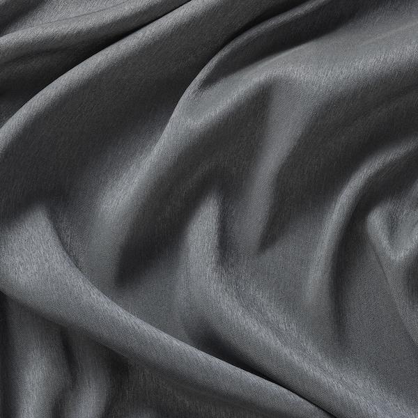 BLÅHUVA block-out curtains, 1 pair blue-grey 250 cm 145 cm 2.69 kg 3.63 m² 2 pack