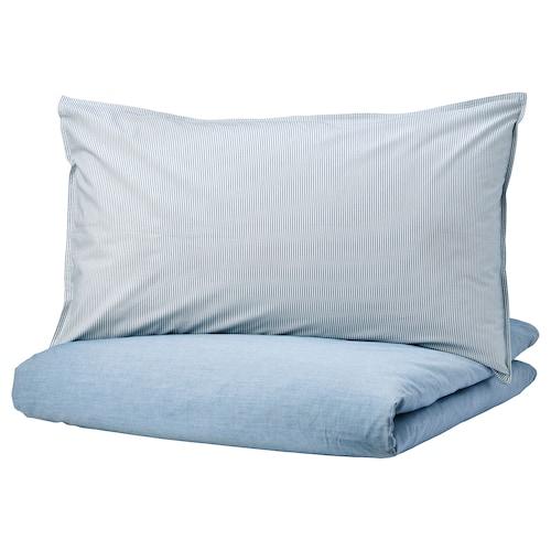 BLÅVINDA Quilt cover and pillowcase, light blue, 150x200/50x80 cm
