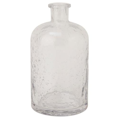 BLOMBLAD vase clear glass 22 cm 12 cm