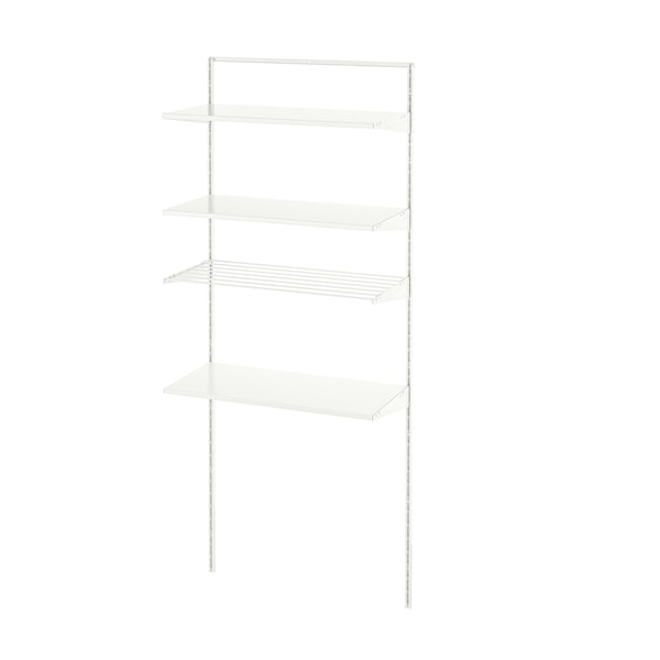 BOAXEL 1 section white/metal 82.0 cm 40.0 cm 200.6 cm