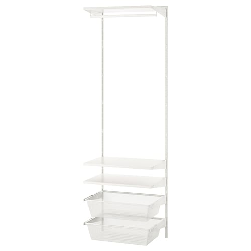 BOAXEL 1 section, white, 62x40x201 cm