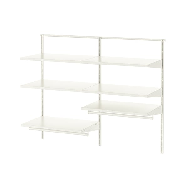 BOAXEL 2 sections, white, 125x40x101 cm