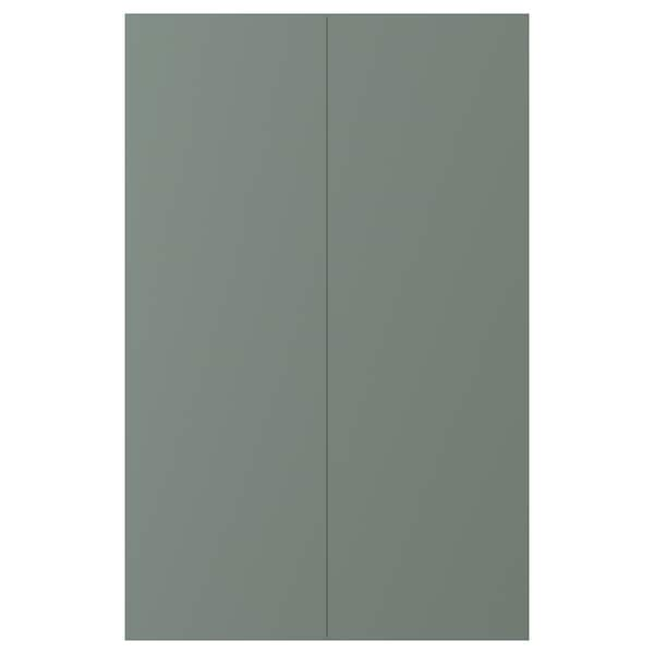 BODARP 2-p door f corner base cabinet set grey-green 25.7 cm 80.0 cm 25.0 cm 79.7 cm 1.7 cm