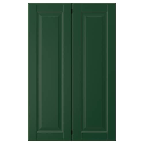 BODBYN 2-p door f corner base cabinet set dark green 25.4 cm 80.0 cm 25.0 cm 79.7 cm 1.9 cm