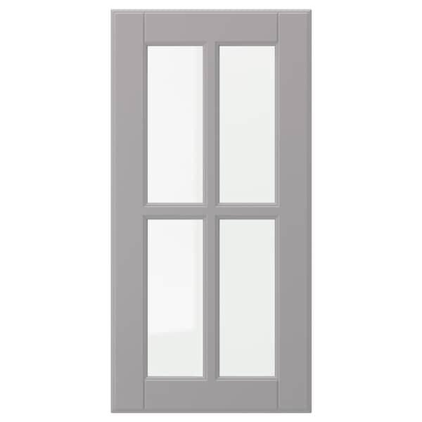 BODBYN glass door grey 29.7 cm 60.0 cm 30.0 cm 59.7 cm 1.9 cm