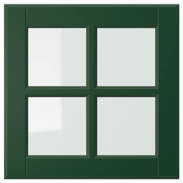 BODBYN glass door dark green 39.7 cm 40.0 cm 40.0 cm 39.7 cm 1.9 cm