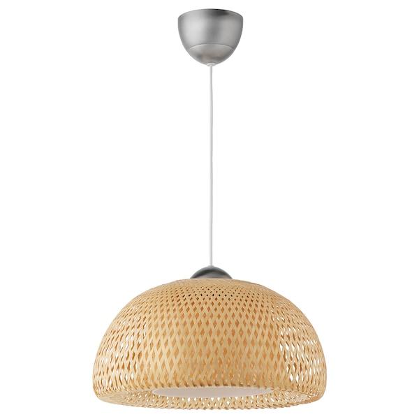 BÖJA pendant lamp bamboo 60 W 42 cm 160 cm