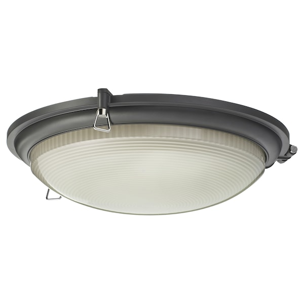 BOGSPRÖT LED ceiling lamp, anthracite, 36 cm