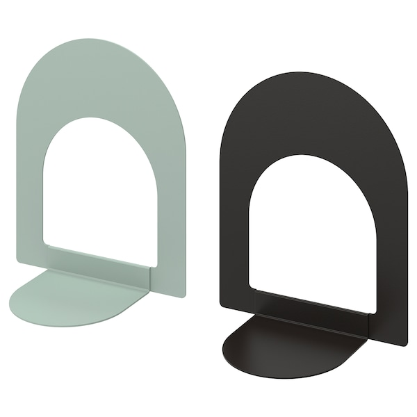 BOTTNA book-end light grey-green/anthracite 13 cm 15 cm 2 pack