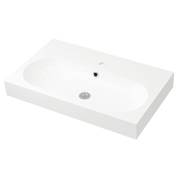 BRÅVIKEN single wash-basin white 80 cm 80 cm 48 cm 10 cm