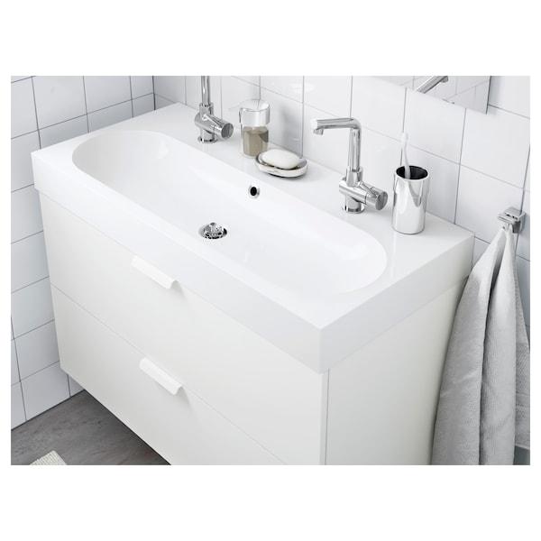 BRÅVIKEN single wash-basin white 100 cm 100 cm 48.0 cm 10 cm