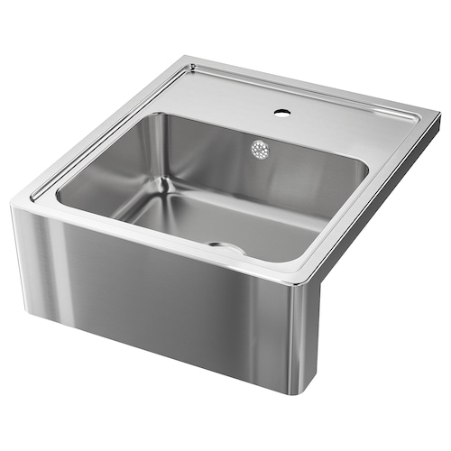 BREDSJÖN sink bowl w visible front stainless steel 18 cm 50 cm 40 cm 64 cm 60 cm 69 cm 60 cm 31.5 l