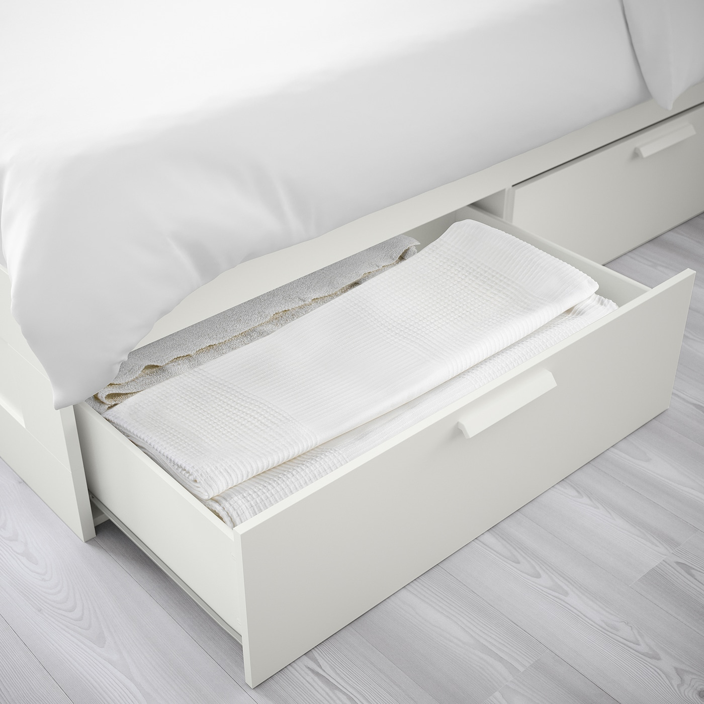 Brimnes Bed Frame With Storage White Luroy Ikea