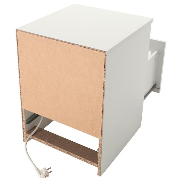 BRIMNES Bedside table, white, 39x41 cm