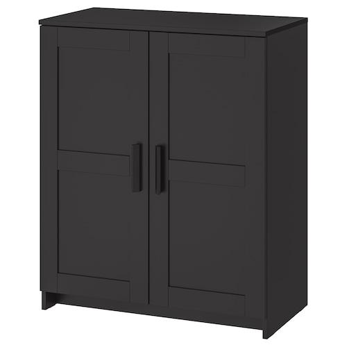 BRIMNES cabinet with doors black 78 cm 41 cm 95 cm 25 kg