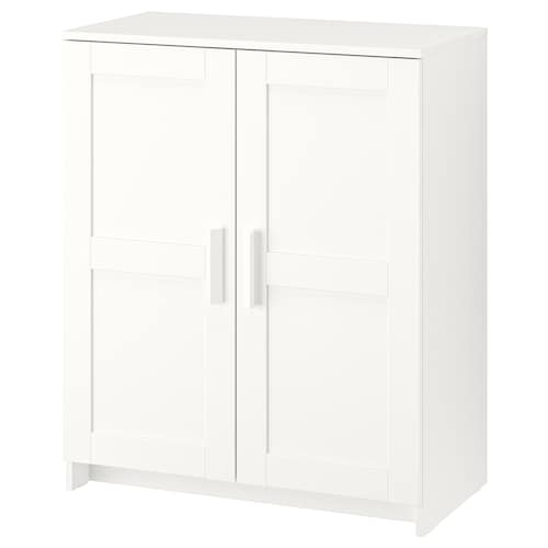 BRIMNES Cabinet with doors, white, 78x95 cm