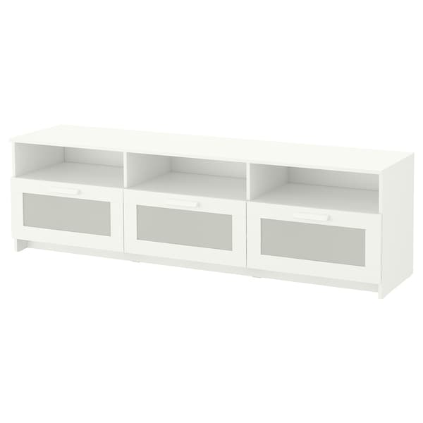 BRIMNES TV bench, white, 180x41x53 cm