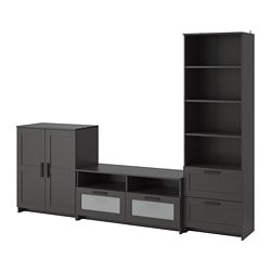 BRIMNES TV storage combination, black