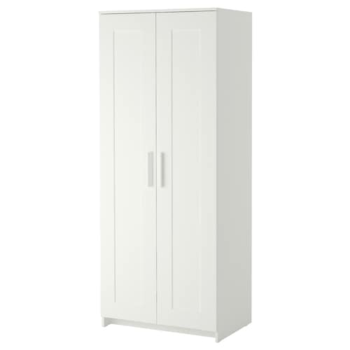 BRIMNES wardrobe with 2 doors white 78 cm 50 cm 190 cm