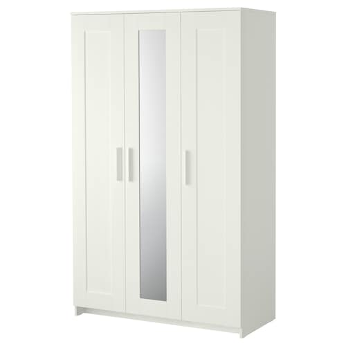 BRIMNES wardrobe with 3 doors white 117 cm 50 cm 190 cm