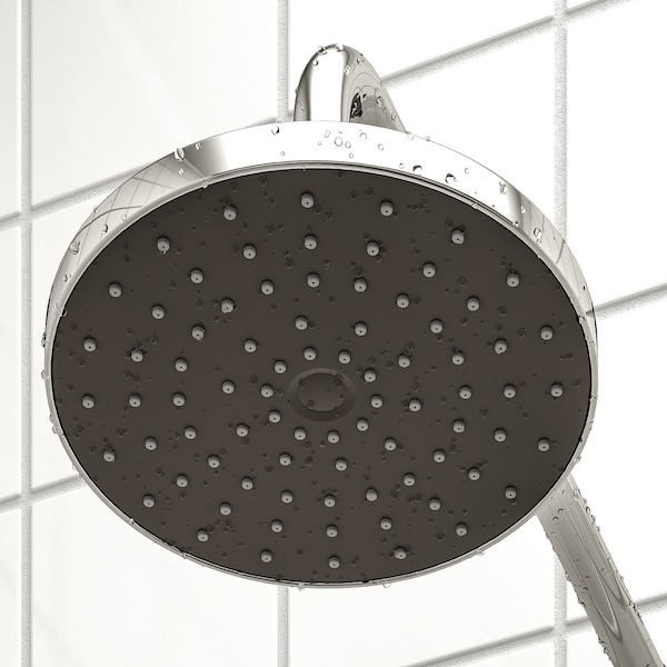 BROGRUND Head/handshower kit with diverter, chrome-plated