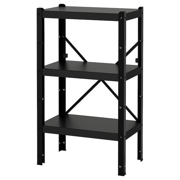 BROR 1 section/shelves black 65 cm 40 cm 110 cm