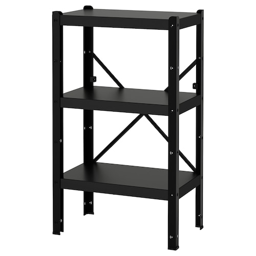 BROR 1 section/shelves black 65 cm 40 cm 110 cm