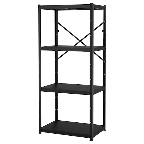 BROR 1 section/shelves black 85 cm 55 cm 190 cm