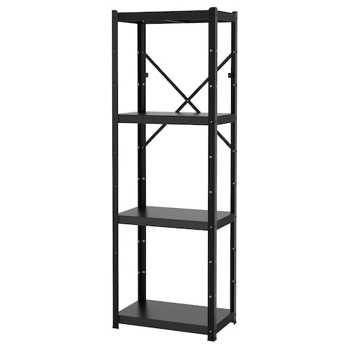 BROR 1 section/shelves black 65 cm 40 cm 190 cm