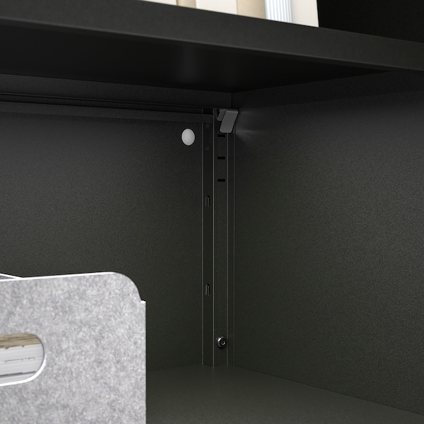 BROR Cabinet with 2 doors, black, 76x40x66 cm