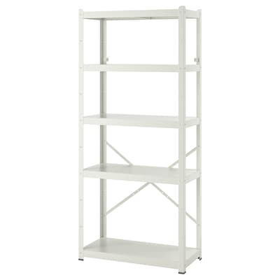 BROR Shelving unit, white, 85x40x190 cm