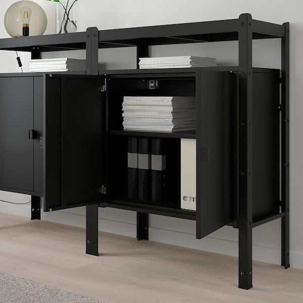 BROR shelving unit with cabinets black 170 cm 40 cm 110 cm