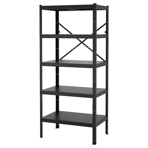 BROR shelving unit black 85 cm 55 cm 190 cm