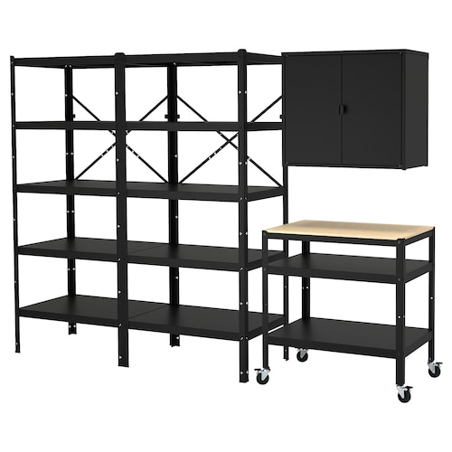 BROR storage w shelves/cabinet/trolley