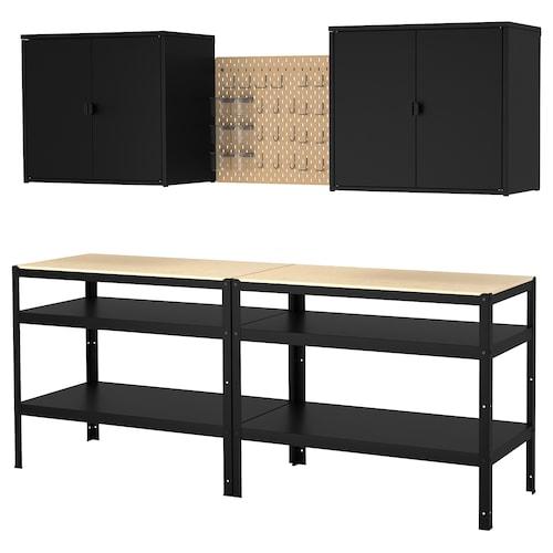 IKEA BROR Storage with cabinet/work bench