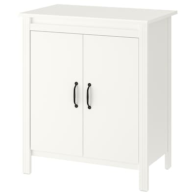 BRUSALI Cabinet with doors, white, 80x93 cm