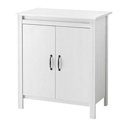 BRUSALI cabinet with doors, white