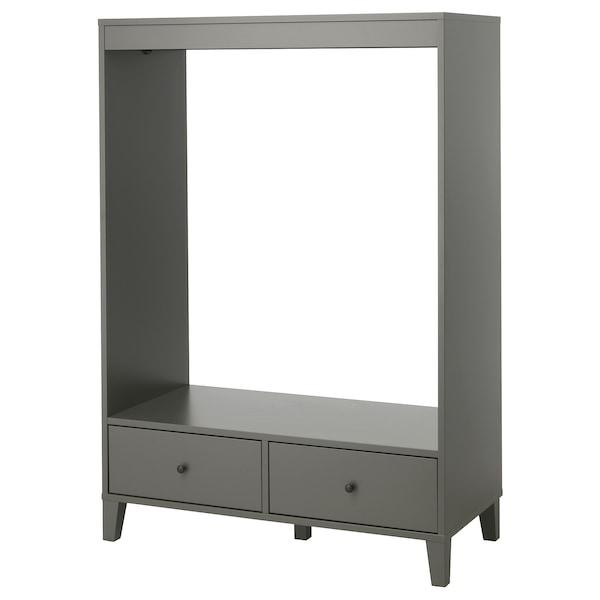 BRYGGJA open wardrobe dark grey 120 cm 57 cm 173 cm