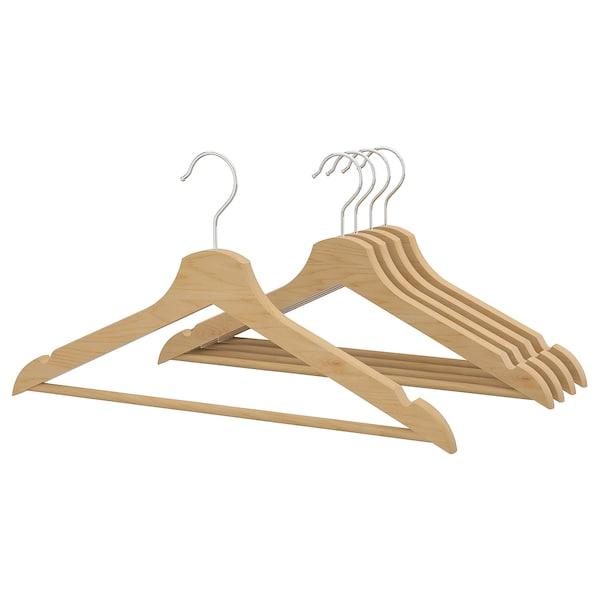 BUMERANG hanger natural 43 cm 14 mm 5 pack