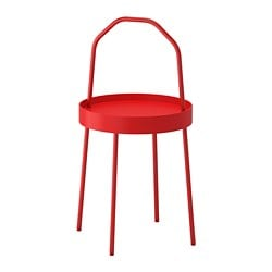 BURVIK side table, red