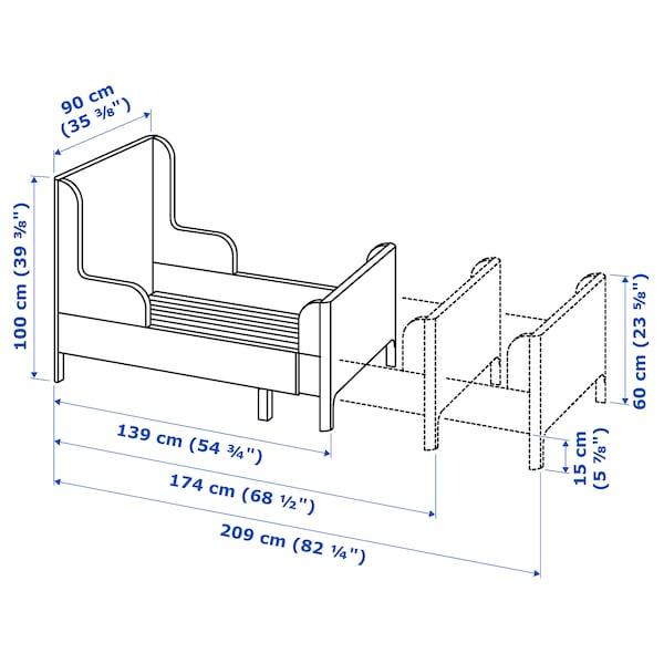 BUSUNGE extendable bed white 138 cm 208 cm 90 cm 100 cm 100 kg 200 cm 80 cm