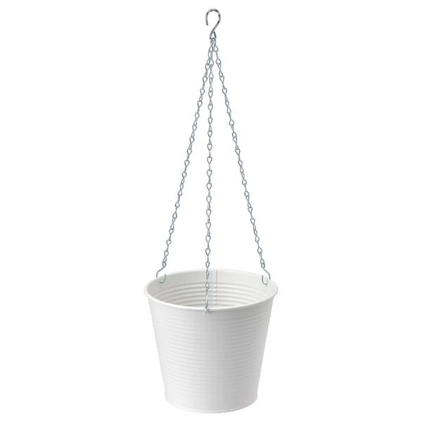 CASHEWÄPPLE Hanging planter, in/outdoor white, 15 cm