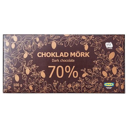 CHOKLAD MÖRK 70% dark chocolate 70% UTZ certified 100 g
