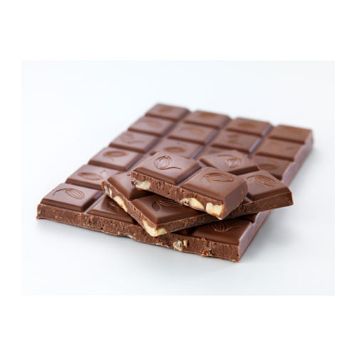 CHOKLAD NÖT Milk chocolate bar w hazelnuts IKEA UTZ certified cacao: ensures sustainable farming standards and good conditions for workers.