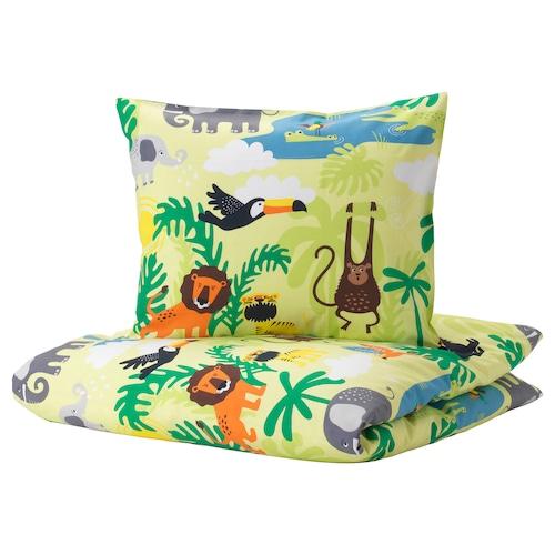IKEA DJUNGELSKOG Quilt cover and pillowcase