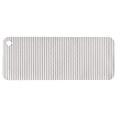 DOPPA Bathtub mat, light grey, 33x84 cm