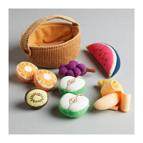DUKTIG 9-piece fruit basket set IKEA Encourages role play; children develop social skills by imitating grown-ups and inventing their own roles.