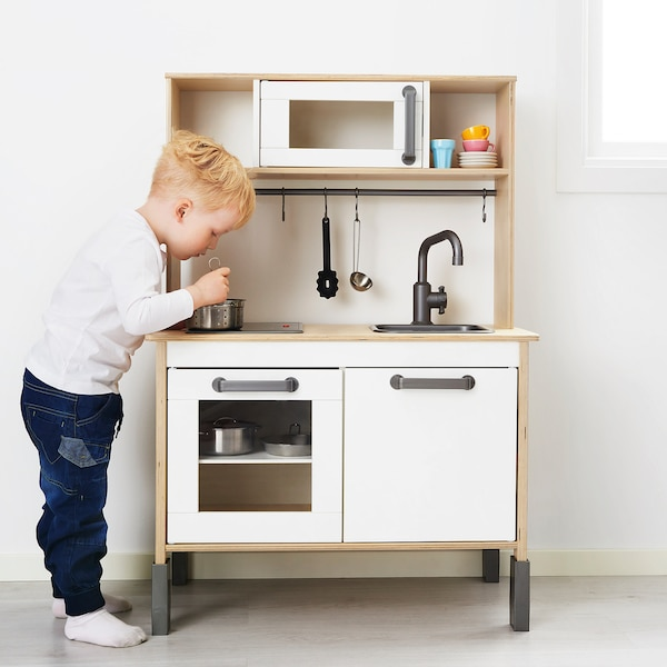 DUKTIG Play kitchen, birch, 72x40x109 cm