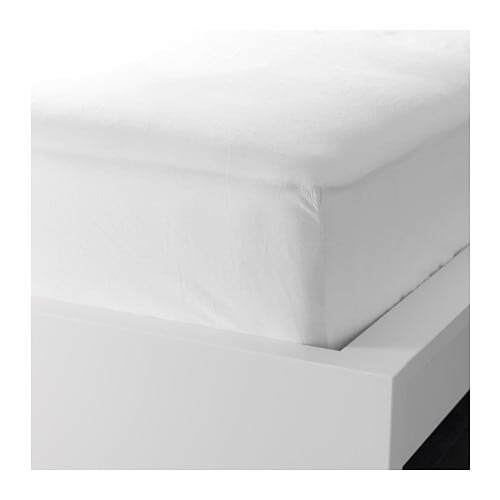 DVALA Fitted sheet IKEA Extra soft and durable quality since the bedlinen is densely woven from fine yarn.
